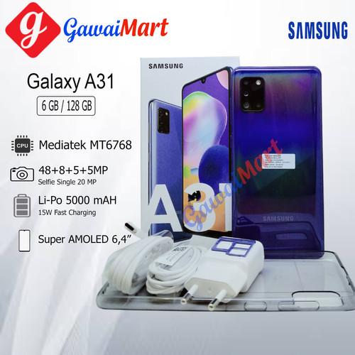 Foto Produk SAMSUNG GALAXY A31 6/128GB RAM 6GB ROM 128GB GARANSI RESMI - Hitam dari Gawai Mart