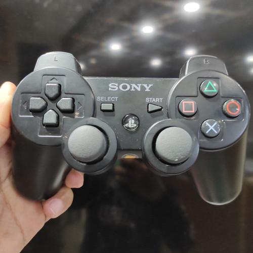 Foto Produk Stick Stik PS3 Ori Mesin Dualshock 3 Getar - Hitam dari Butikgames