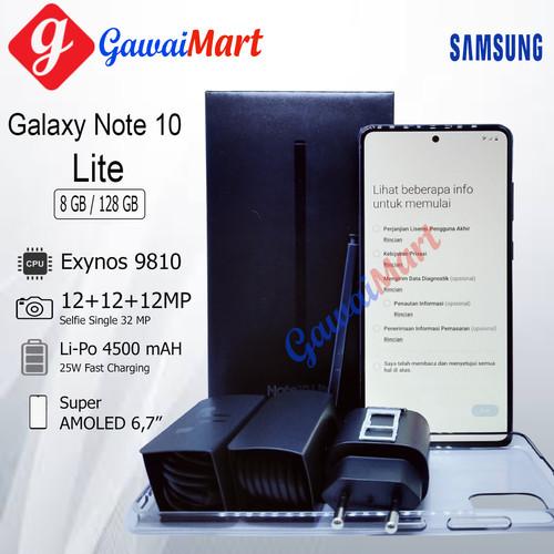 Foto Produk SAMSUNG GALAXY NOTE 10 LITE 8GB/128GB RAM 8GB ROM 128GB GARANSI RESMI - Hitam dari Gawai Mart