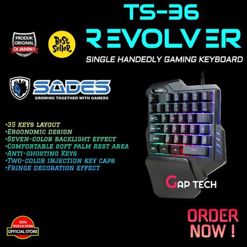 Foto Produk Sades REVOLVER TS 36 / TS36 Single Hand / One Hand Gaming Keyboard dari GAP TECH OFFICIAL