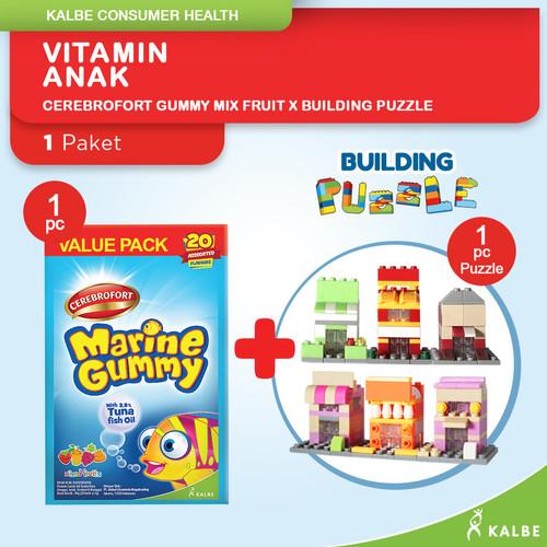 Foto Produk Cerebrofort Marine Gummy Mix Fruit x Egg Building Puzzle dari Kalbe Consumer Health