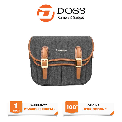 Foto Produk Tas Kamera Herringbone Maniere Medium /Camera Bag Mirrorless - Charcoal dari DOSS