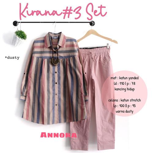 Foto Produk baju setelan celana kiranaa #3 jumbo muslim wanita casual trendy modis dari yukika.id