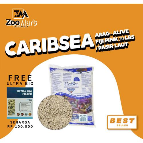 Foto Produk CaribSea Arag-Alive Fiji Pink 20 lbs / pasir laut dari ZooMart