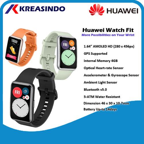 Foto Produk Huawei Watch Fit Smartwatch Garansi Resmi - Hijau Promo dari Kreasindo Online