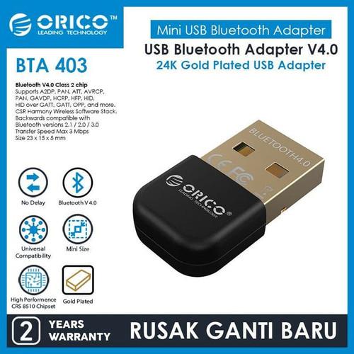 Foto Produk Orico Bta-403 Bluetooth 4.0 Receiver Dongle - Hitam dari manekistore