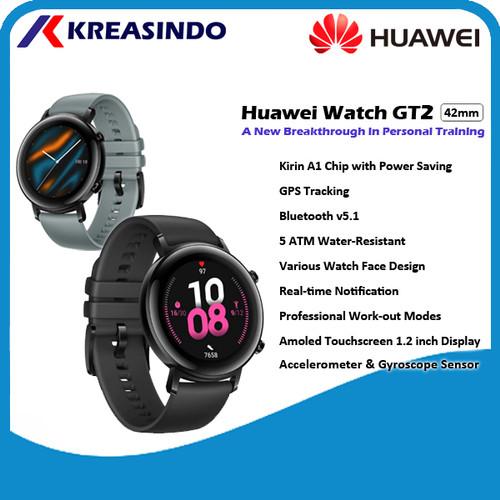 Foto Produk Huawei Watch GT2 / GT 2 42mm Female Diana Smartwatch Garansi Resmi - Hitam dari Kreasindo Online