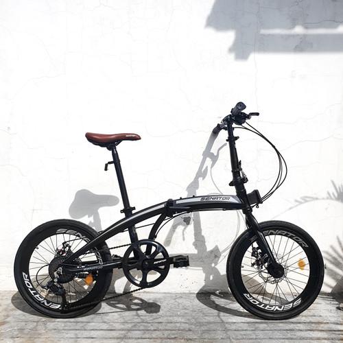 Foto Produk Sepeda Lipat Alloy Senator Folding Bike - Hitam dari yugowes
