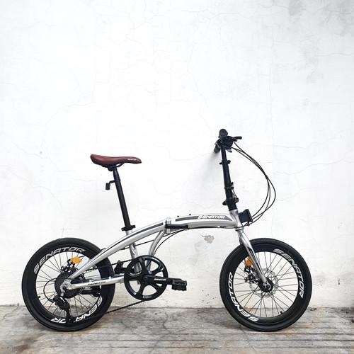 Foto Produk Sepeda Lipat Alloy Senator Folding Bike - Silver dari yugowes