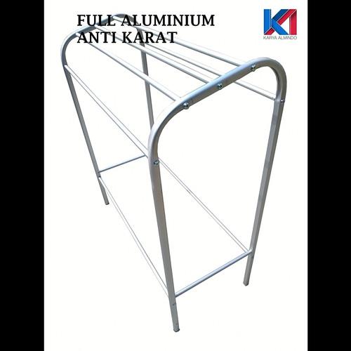 Foto Produk jemuran handuk / rak handuk jumbo Stainless / aluminium kokoh - aluminium dari BOJONG FURNITURE DASANA