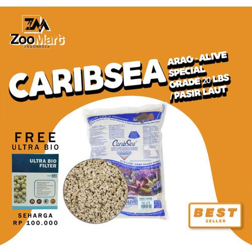 Foto Produk CaribSea Arag-Alive Special Grade 20 lbs / pasir laut dari ZooMart