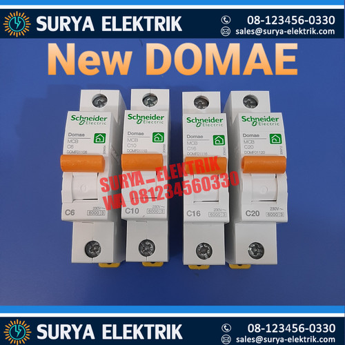 Foto Produk mcb standar standard schneider domae 6 16 10 20 amper A ori /asli dari SURYA-ELEKTRIK