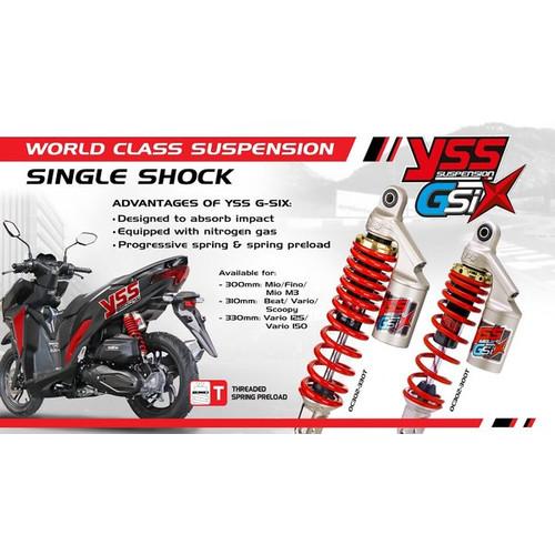 Foto Produk Shockbreaker Yss Tabung Vario 150 & Vario 150 2018 Gza Series 330mm dari Lestari Motor 2