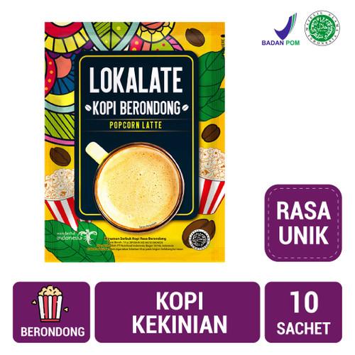 Foto Produk Lokalate Kopi Berondong (10 Sch) - Popcorn Latte dari NutriMart