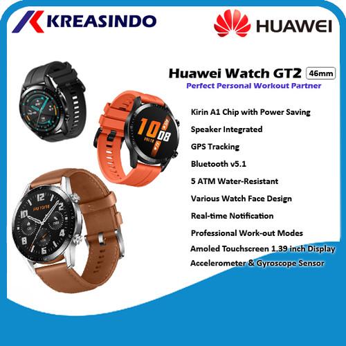 Foto Produk Huawei Watch GT2 / GT 2 46mm Male latona Smartwatch Garansi Resmi - Orange dari Kreasindo Online