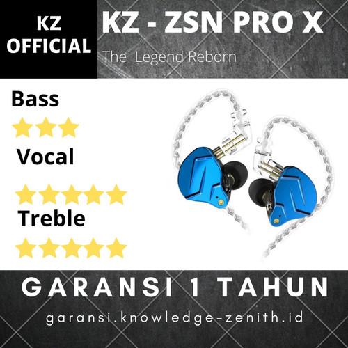 Foto Produk Knowledge Zenith KZ ZSN Pro X earphone with mic - Hitam dari Knowledge Zenith Store