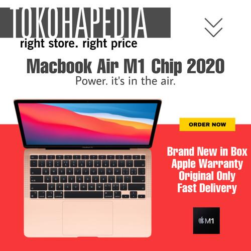 Foto Produk Apple MacBook Air M1 Chip 2020 256GB / 512GB SPACE GRAY, GOLD, SILVER - PRE ORDER dari tokohapedia