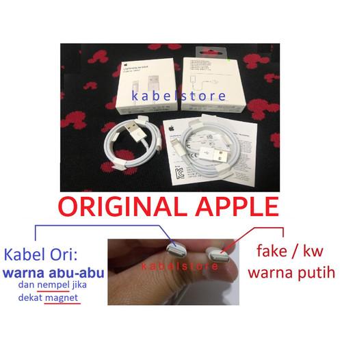 Foto Produk Lightning Kabel Data Iphone 5 5s 6 6s 6+ 7 7s 7+ ipad Original dari Kabel Store -KabelApple