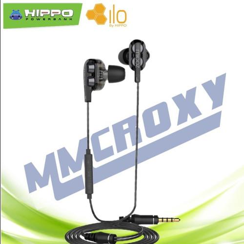 Foto Produk Hippo Miooz DB28 -Dual Dynamic Drivers Earphone - Hitam dari mmcroxy.onlineshop