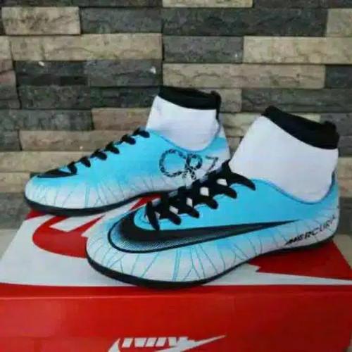 Foto Produk PAKET KOMPLIT SEPATU FUTSAL ANAK NIKE CR7 - Putih, 34 dari Giant_shoes