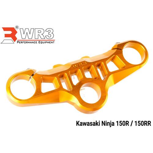 Foto Produk Segitiga Stang Triple Clamp WR3 Kawasaki Ninja 150 RR Black silver - Gold dari Xtreme Motor Sport
