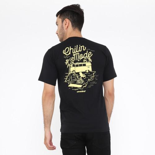 Foto Produk Wanderlust T-Shirt Kaos Chillin Mode Black - S dari Wanderlustbag Official