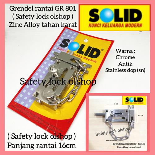 Foto Produk Grendel Rantai Pintu / Door Chain with Bolt GR 801 dari Safety Lock