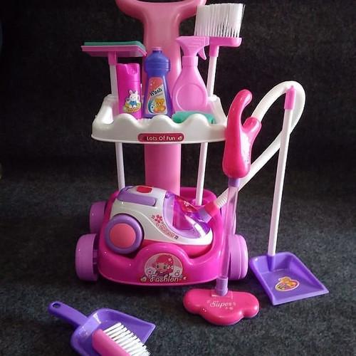 Foto Produk mainan anak murah magical cleaning set vacum cleaner dari mainanOK