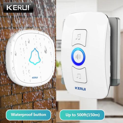 Foto Produk KERUI Wireless Doorbell Waterproof Bel Pintu rumah kantor Sensor - Putih dari Asyam Weiseman