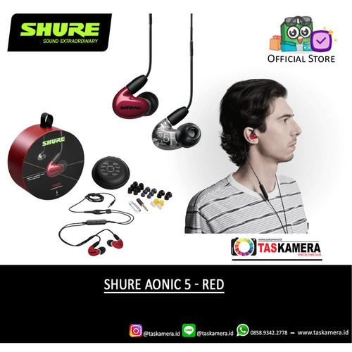 Foto Produk SHURE Aonic 5 Sound Isolating Earphone - Earphone SHURE Aonic 5 - Red dari taskamera-id