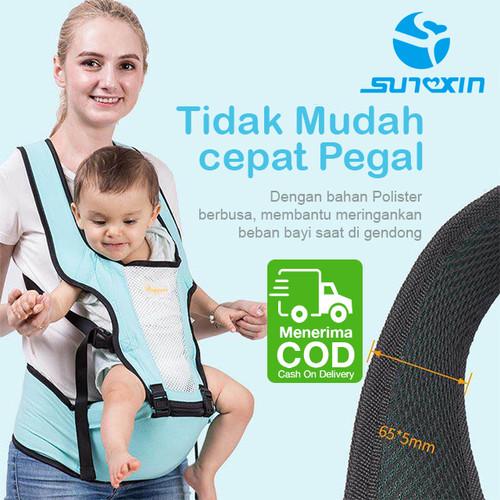 Foto Produk Gendongan Bayi Hipseat Hip Seat Ergonomis geos Bayi Baby Depan Carrier - Biru Muda dari SUNXIN