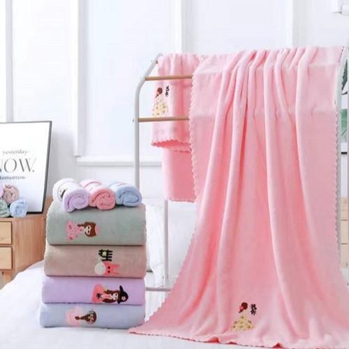 Foto Produk handuk micro bulu handuk mandi handuk dewasa ukuran besar 70x140 - Cokelat, bulu polos dari noyi88