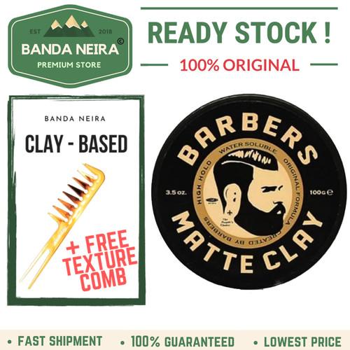 Foto Produk Barbers Pomade Matte Clay Original Lokal Murah Pomade dari Banda Neira Store