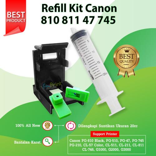 Foto Produk Refill Tool Kit Penyedot Sedot Tinta Cartridge Canon PG 810 CL 811 dari FixPrint Jakarta