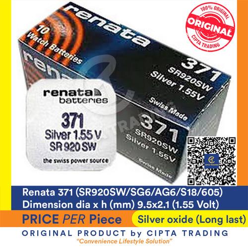 Foto Produk Button Cell - Renata - 371 (SR920SW) dari Cipta Trading