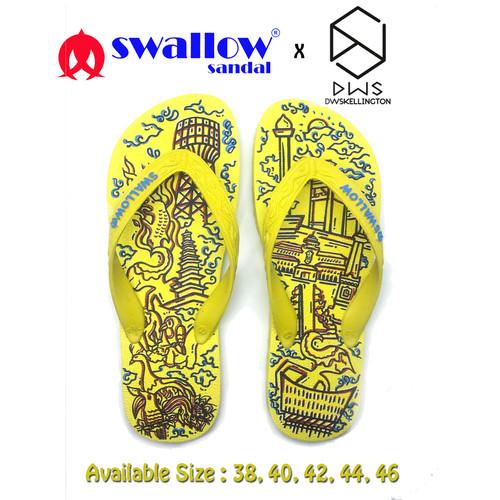 Foto Produk SANDAL SWALLOW X DWSKELLINGTON DOODLE YELLOW - KUNING - 38 dari Swallow Official Store