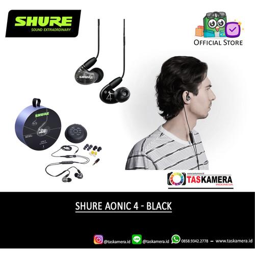 Foto Produk SHURE Aonic 4 Sound Isolating Earphone - Earphone SHURE Aonic 4 - Black dari taskamera-id