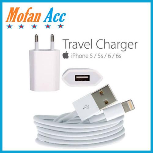 Foto Produk travel charger original iphone 5 / ipad mini / ipod touch 5 / nano 7 data wire + adaptor dari mofan accesories