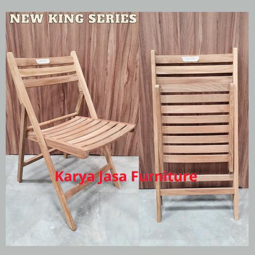 Foto Produk KURSI LIPAT KAYU JATI (NEW KING) dari Karya Jasa Furniture Manufacturer