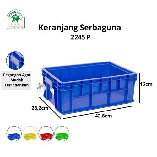 Foto Produk Green Leaf Container / Keranjang Industri 2245 P - Biru dari KimberlyOnShop
