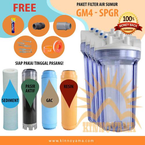 """Foto Produk Paket Filter Air Sumur Siap Pasang 10"""" GM 4 - SPGR Clear 0.75"""" - GM1034SPGRC dari Tata Water Filter"""