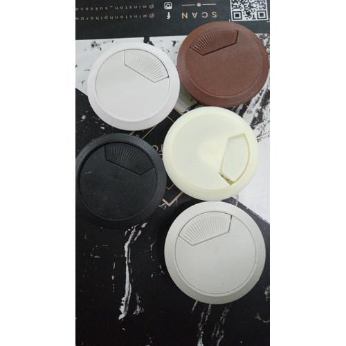 Foto Produk TUTUP LUBANG KABEL BULAT PLASTIK 60MM/6 CM GROMET BULAT PLASTIK WARNA dari WINSTON SUKSES ABADI