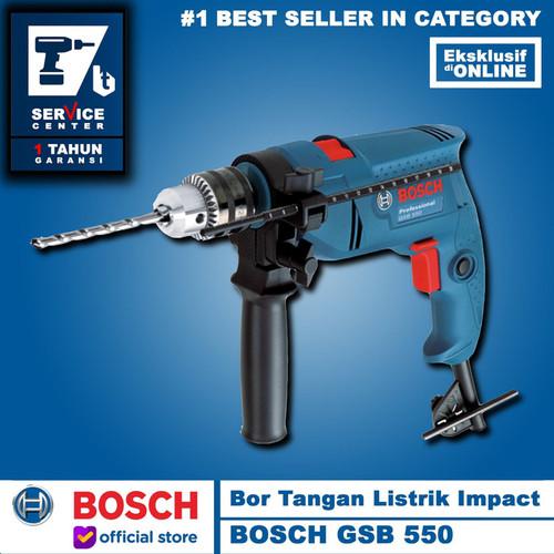 Foto Produk Bosch Mesin Bor Tangan GSB 550 13 mm Impact Drill 13MM Tembok Beton dari Belanja Teknik