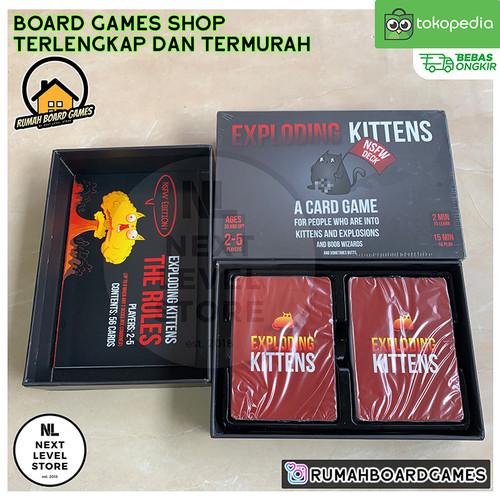 Foto Produk Exploding Kittens Board Games : ALL SERIES (ORI,NSFW,IMPLODING,ETC) - NSFW dari NEXT LEVEL STORE