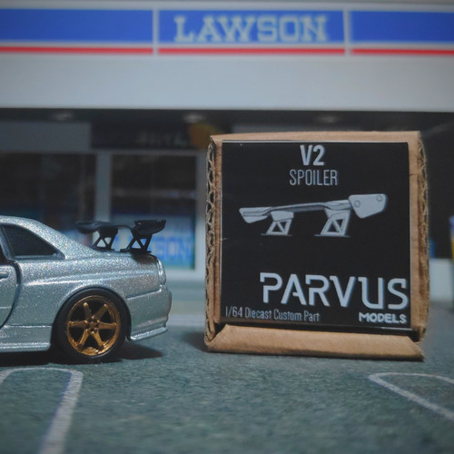 Foto Produk Parvus Models 1 64 Spoiler V2 untuk Custom Hot Wheels Tomica MiniGT dari Hobby_Shoppu