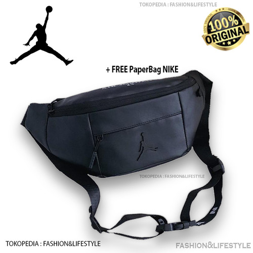 Foto Produk Nike Air Jordan Waistbag - Belt Bag Logo Leather Black Original 100% dari Fashion&LifeStyle