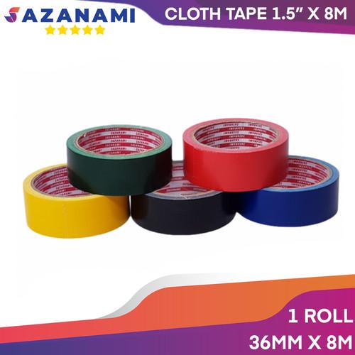 """Foto Produk Lakban Kain Warna 1.5"""" Inch x 10Y Sazanami Cloth Tape Warna Hitam - Kuning dari Sazanami Tape"""