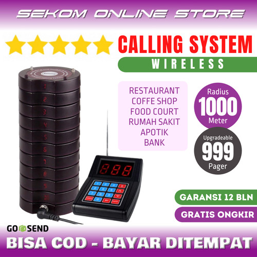 Foto Produk Wireless Calling System - Restaurant Pager KOLMI 668 *Harga Promo dari SEKOM ONLINE STORE