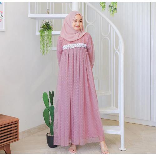 Foto Produk Terminal Grosir   Gamis Wanita Muslim Termurah   Ivora Dress - Dustypink dari Terminalgrosir Indonesia