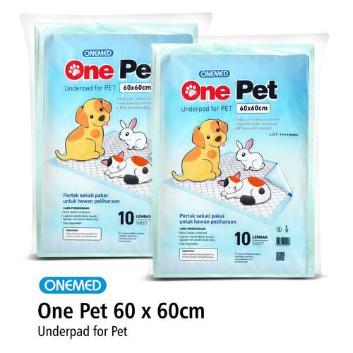 Foto Produk Underpad One Pet / Toilet Training / Tatakan Kencing Hewan 60x60cm dari OneMed-Medicom